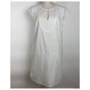 J. Crew White Lace Cap Sleeve Dress